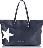 Dark Navy Eco Leather Tote Wstar