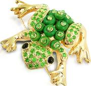 Green Frog Brooch