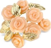 Az Collection Brooches & Pins, Pink Roses Gold Plated Brooch