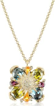 Gold Plated Flower Drop Necklace