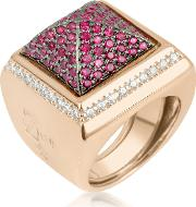 Pink Cubic Zirconia Square Ring