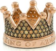Re Silver And Zircon Crown Ring