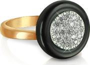 White Cubic Zirconia Silver Vermeil Ring