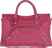 City Classic S Tote Leather Indian Roseblack