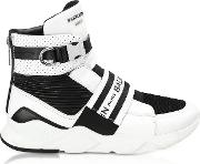 Exton White Perforated Leather High Top Men's Sneakers