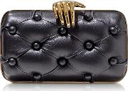 Black Leather Carmen With Hand Clutch