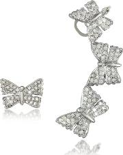 Butterflies White Gold Earrings Wdiamonds