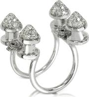 Four Studs With Diamonds Ring