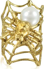 Web And Spyder Bronze Ring Wpearl