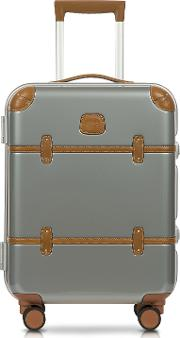 Bric's Travel Bags, Bellagio Metallo V2.0 21 Silver Carry On Spinner Trunk
