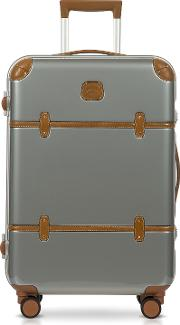 Bric's Travel Bags, Bellagio Metallo V2.0 25 Silver Carry On Spinner Trunk