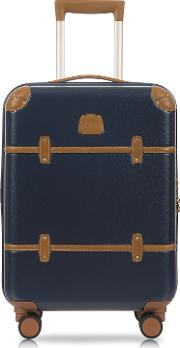 Bric's Travel Bags, Bellagio V2.0 21 Blue Tobacco Carry On Spinner Trunk