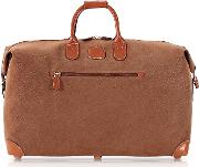 Life Camel Micro Suede 22 Duffle Bag