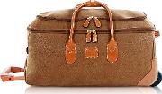 Bric's Travel Bags, Life Medium Camel Micro Suede Rolling Duffle Bag