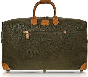 Bric's Travel Bags, Life Olive Green Micro Suede 22 Duffle Bag