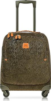 Bric's Travel Bags, Life Olive Green Micro Suede X Small Trolley