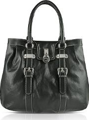 Large Grained Leather Tote Bag