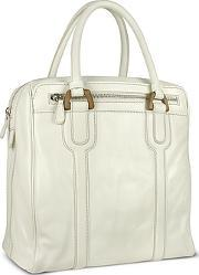 Zippered Genuine Italian Leather Travel Tote Bag