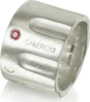 Limited Edition Sterling Silver And Ruby Ring Wchain