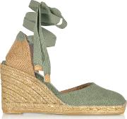 Carina  Canvas Wedge Espadrillas