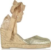 Carina En Canvas Wedge Espadrillas