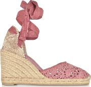 Carina Malva Canvas Wedge Espadrillas