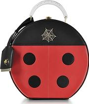 Black And Red Lucky Atkinson Leather Clutch