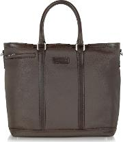 Dark Brown Large Leather Tote