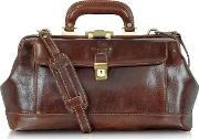 Handmade Brown Leather Professional Doctor Bag