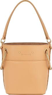Mini Roy Bucket Bag Leather Bleached Brown
