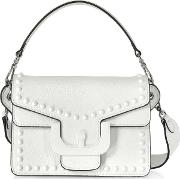Ambrine Graphic Studs Leather Crossbody Bag