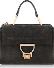 Black Suede Arlettis Mini Bag Wshoulder Strap