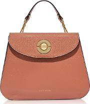 Jalouse Leather Flat Shoulder Bag