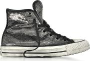 Chuck Taylor All Star High Distressed Ox Thunder & Black Sequins Sneakers