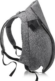Isar Medium Black Melange Eco Yarn Backpack
