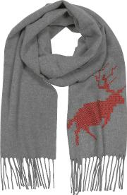 Canada Hiking  Wool And Cashmere Men's Long Scarf Wfringes