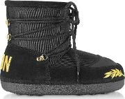 Icon Embroidered Snow Boots