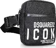 New Icon Black Nylon Vertical Belt Bag