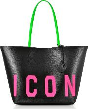 Saffiano Leather Icon Traveler Fluo Tote Bag