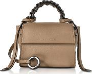 Nut Leather Micro Angel Top Handle Satchel Bag