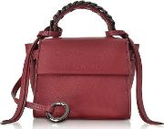 Ribes Leather Micro Angel Top Handle Satchel Bag