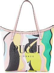 Two Tone Canvas Large Tote Bag