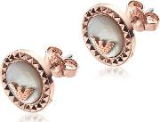 Signature Rose Gold Pvd Stainless Steel Earrings
