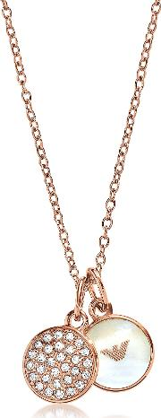 Signature Rose Goldtone Necklace Wdouble Charms