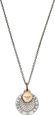 Two Tone Signature Necklace