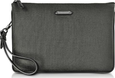 eff1267b Slate Coated Canvas And Leather Men's Clutch