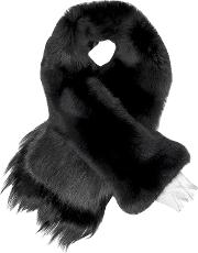 Chess Queen Black Fur Stole
