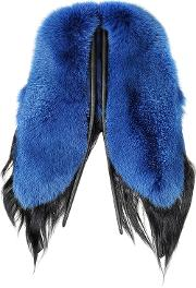 Electric Butterfly Blue And Black Swedish Fur Stole