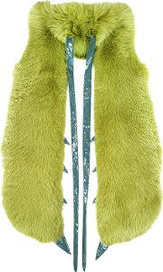 Fearfur Outerwear & Furs, Praying Mantis Green Fox Fur Stole