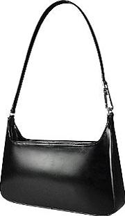 Classic Black Leather Handbag